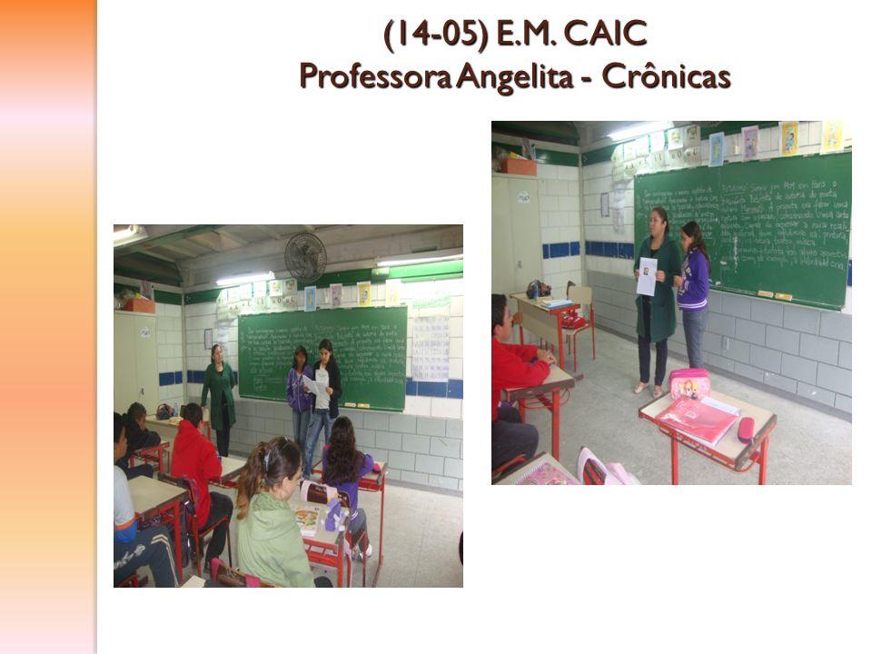 (14-05) E.M. CAIC Professora Angelita - Crônicas