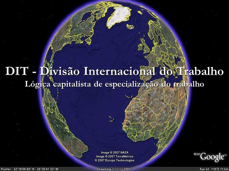 DIT - Divisão Internacional do Trabalho Lógica capitalista de especialização do trabalho