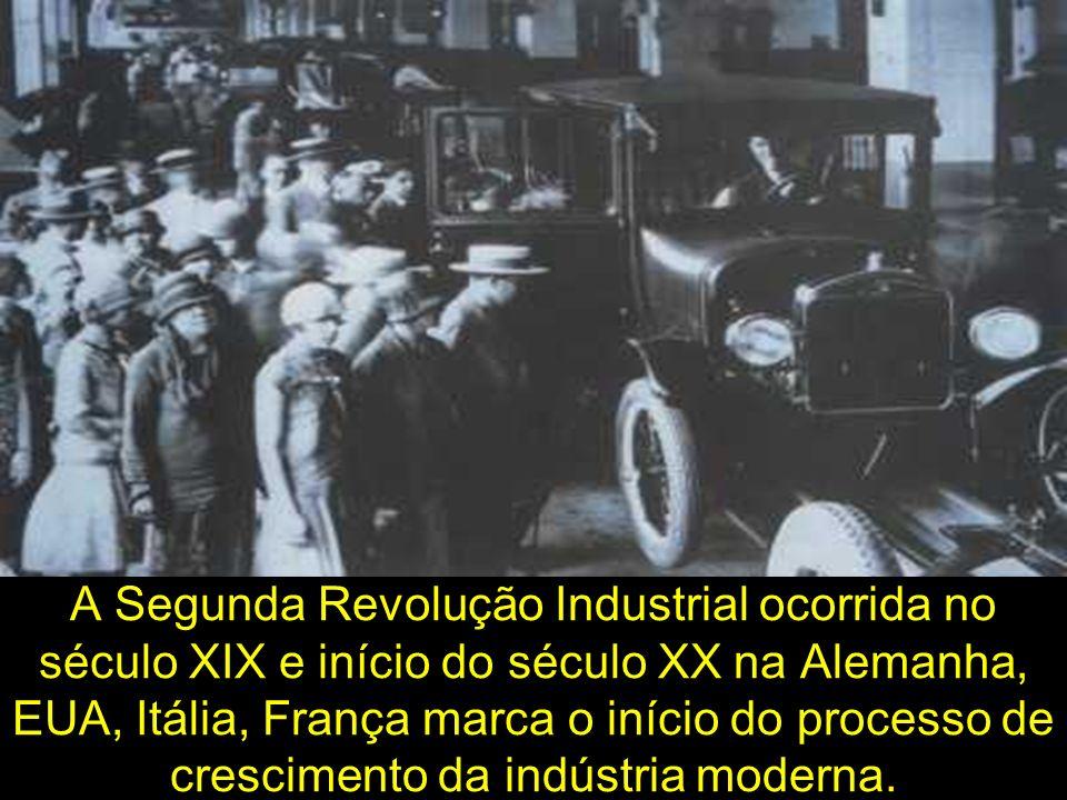 A Segunda Revolução Industrial ocorrida no século XIX e início do século XX na Alemanha, EUA, Itália, França marca o início do processo de crescimento