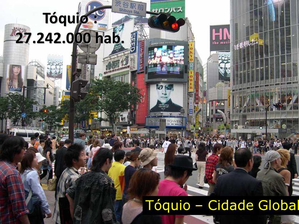 Tóquio – Cidade Global Tóquio : 27.242.000 hab.