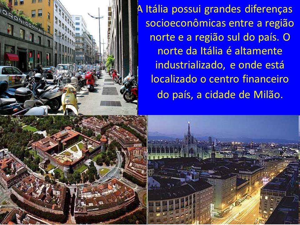 A Itália possui grandes diferenças socioeconômicas entre a região norte e a região sul do país. O norte da Itália é altamente industrializado, e onde