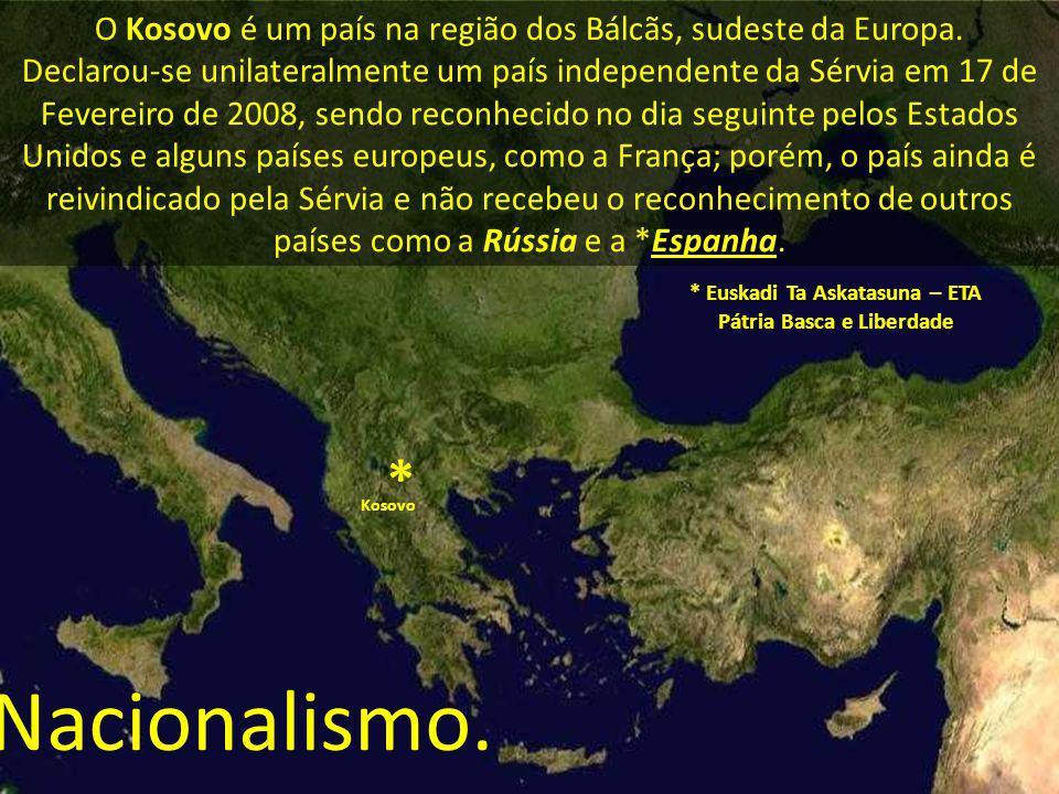 O Kosovo é um país na região dos Bálcãs, sudeste da Europa. Declarou-se unilateralmente um país independente da Sérvia em 17 de Fevereiro de 2008, sen