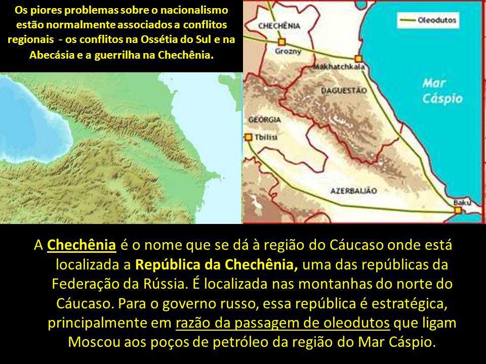 A Chechênia é o nome que se dá à região do Cáucaso onde está localizada a República da Chechênia, uma das repúblicas da Federação da Rússia.