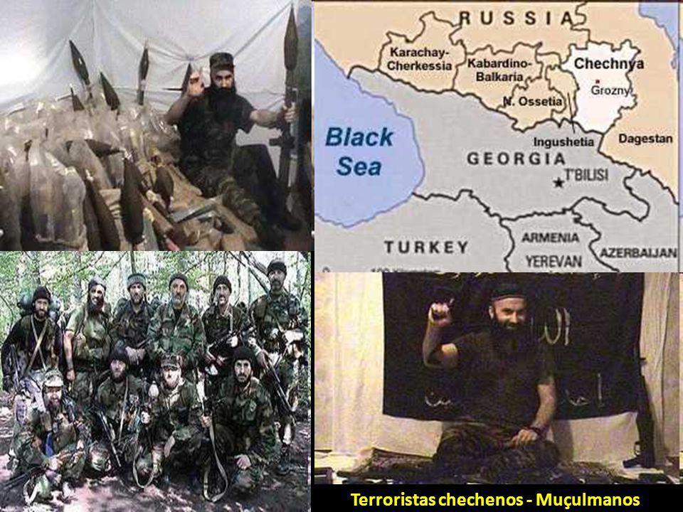 Terroristas chechenos - Muçulmanos