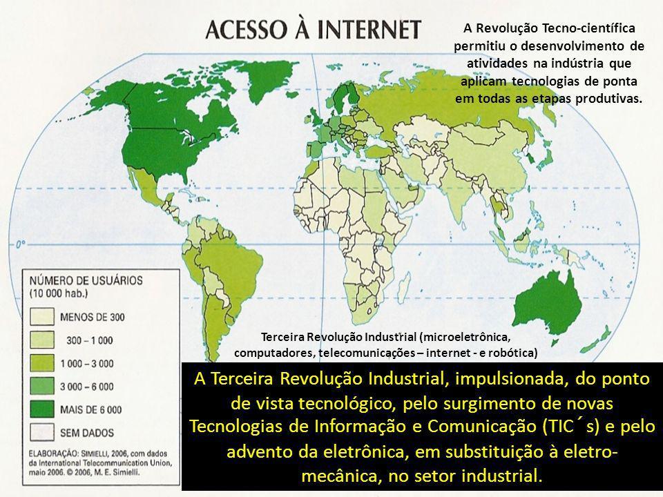 A Terceira Revolução Industrial, impulsionada, do ponto de vista tecnológico, pelo surgimento de novas Tecnologias de Informação e Comunicação (TIC´s)