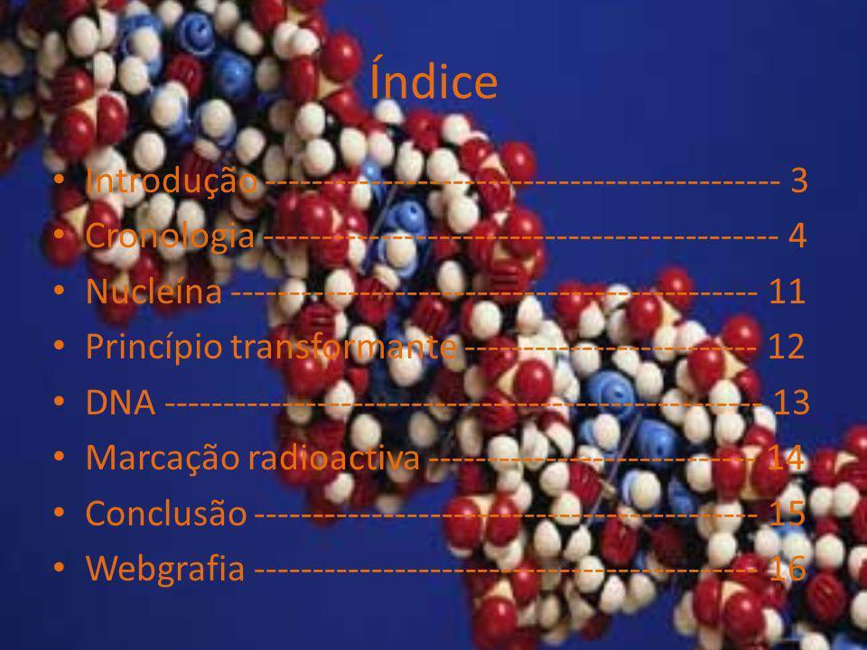 Índice Introdução -------------------------------------------- 3 Cronologia -------------------------------------------- 4 Nucleína ------------------