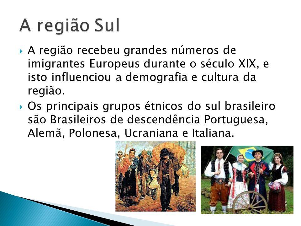 A região recebeu grandes números de imigrantes Europeus durante o século XIX, e isto influenciou a demografia e cultura da região. Os principais grupo