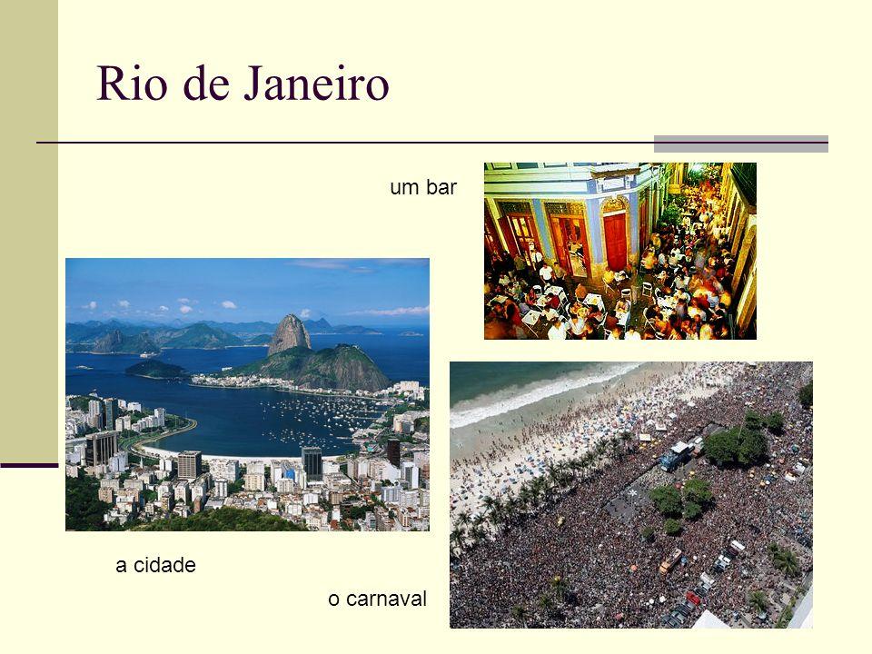 Rio de Janeiro um bar a cidade o carnaval