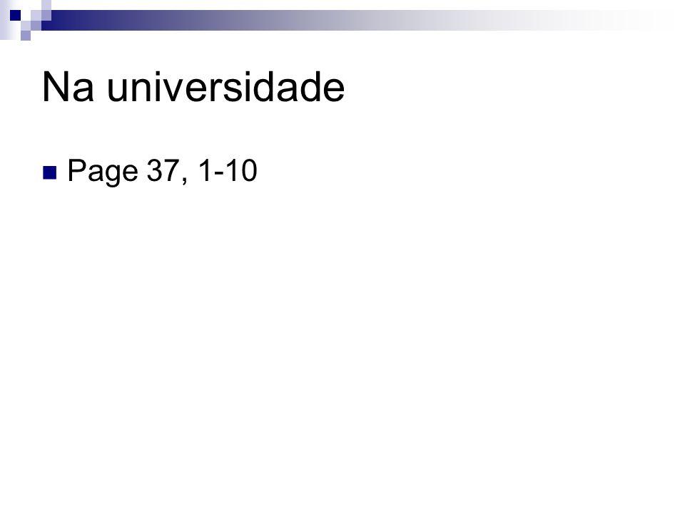 Na universidade Page 37, 1-10