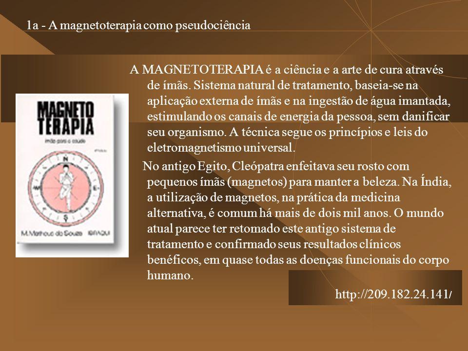 A MAGNETOTERAPIA é a ciência e a arte de cura através de ímãs. Sistema natural de tratamento, baseia-se na aplicação externa de ímãs e na ingestão de