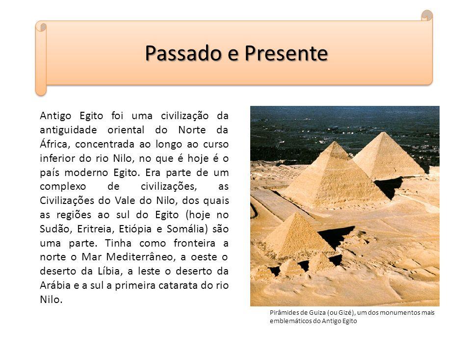 Antigo Egito foi uma civilização da antiguidade oriental do Norte da África, concentrada ao longo ao curso inferior do rio Nilo, no que é hoje é o paí