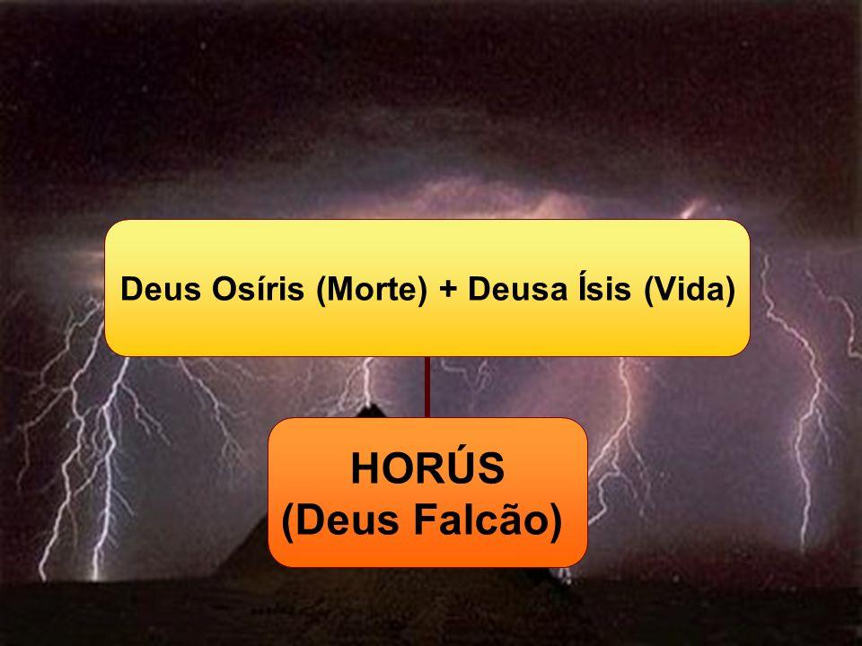 Deus Osíris (Morte) + Deusa Ísis (Vida) HORÚS (Deus Falcão)