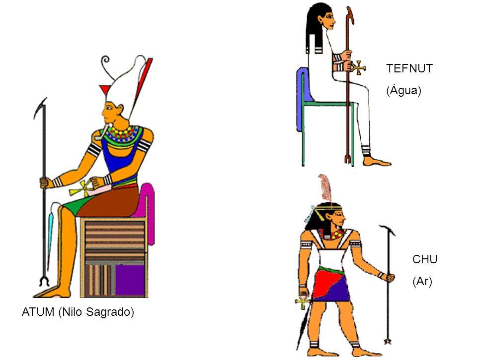 ATUM (Nilo Sagrado) TEFNUT (Água) CHU (Ar)