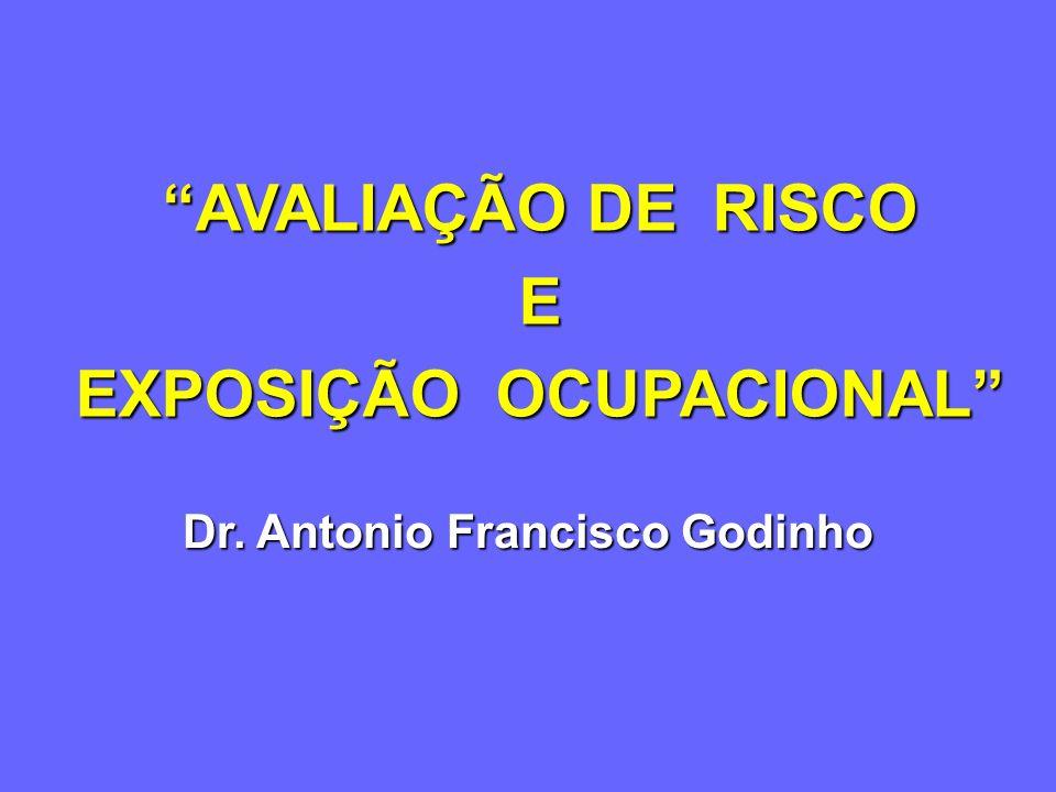 Dr. Antonio Francisco Godinho AVALIAÇÃO DE RISCO E EXPOSIÇÃO OCUPACIONAL
