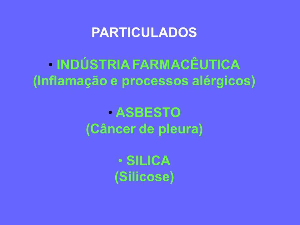 TIPOS DE AGENTES (Exposição Ocupacional) » Líquidos » Gases » Vapores » Material particulado