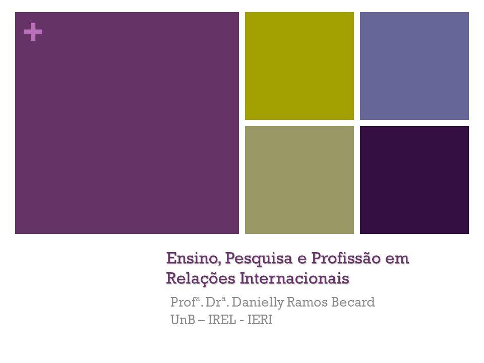 + Ensino, Pesquisa e Profissão em Relações Internacionais Profª. Drª. Danielly Ramos Becard UnB – IREL - IERI