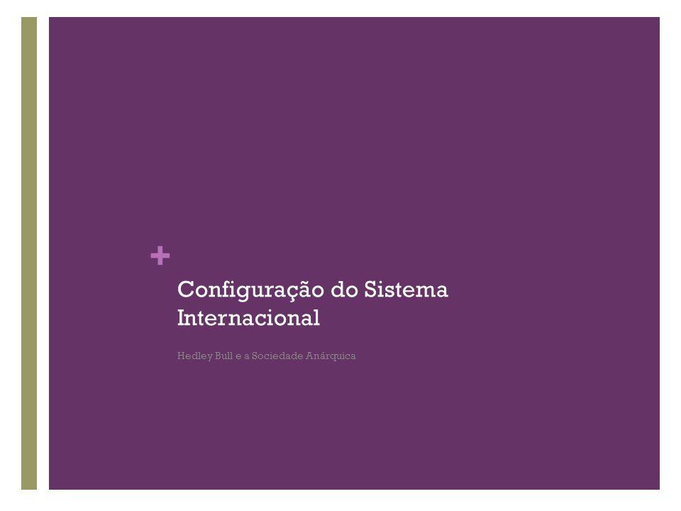 + Configuração do Sistema Internacional Hedley Bull e a Sociedade Anárquica