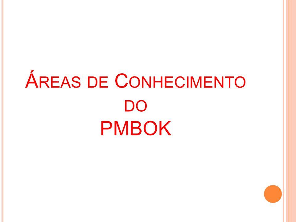 Á REAS DE C ONHECIMENTO DO PMBOK