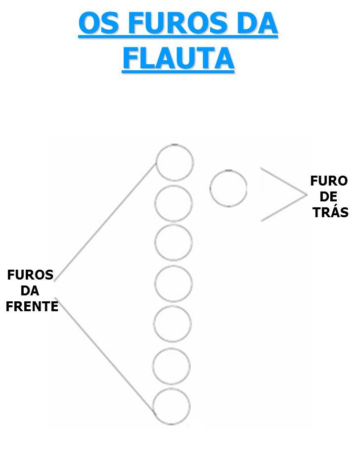 OS FUROS DA FLAUTA FUROS DA FRENTE FURO DE TRÁS