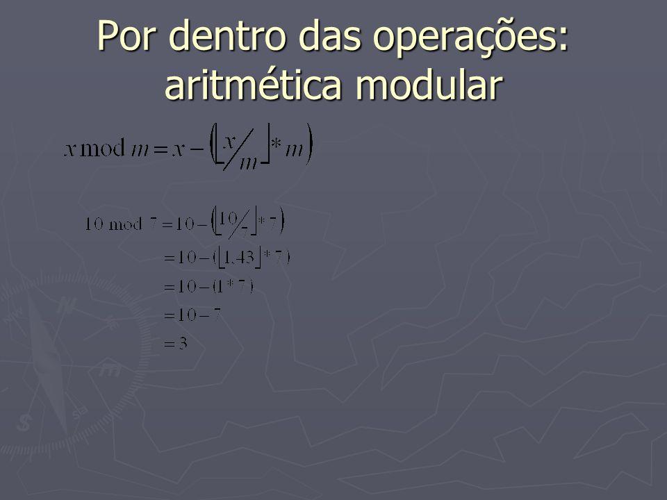 Por dentro das operações: aritmética modular