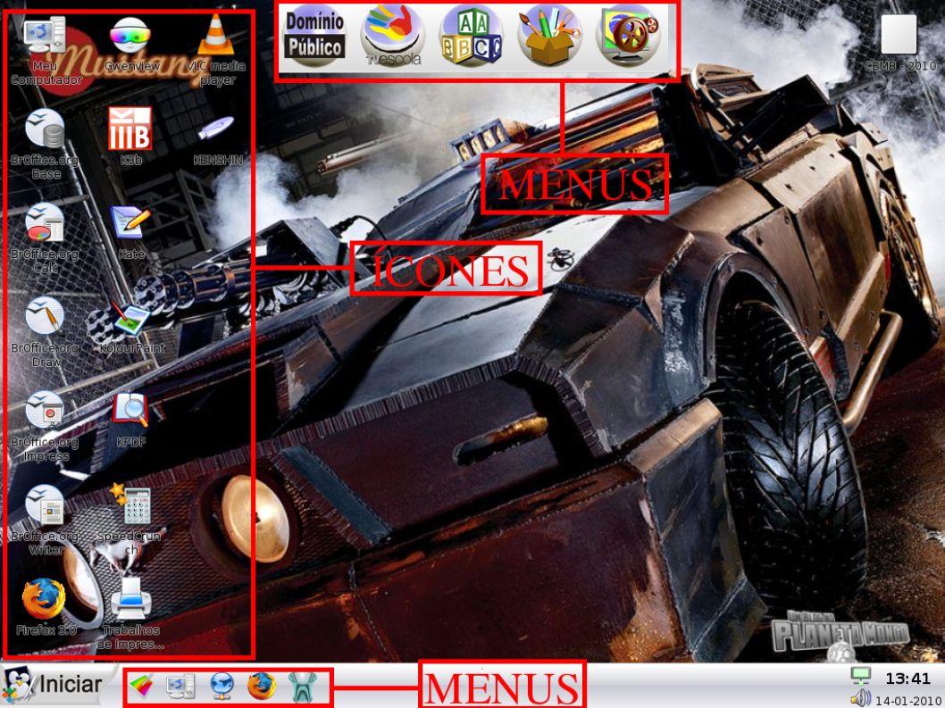 CURSO DE LINUX EDUCACIONAL AMBIENTE GRÁFICO DO L.E 3.0 * Para abrir e retirar um PEN-DRIVE: Para visualizar o conteúdo de um PEN-DRIVE, primeiramente conecte-o na porta USB.
