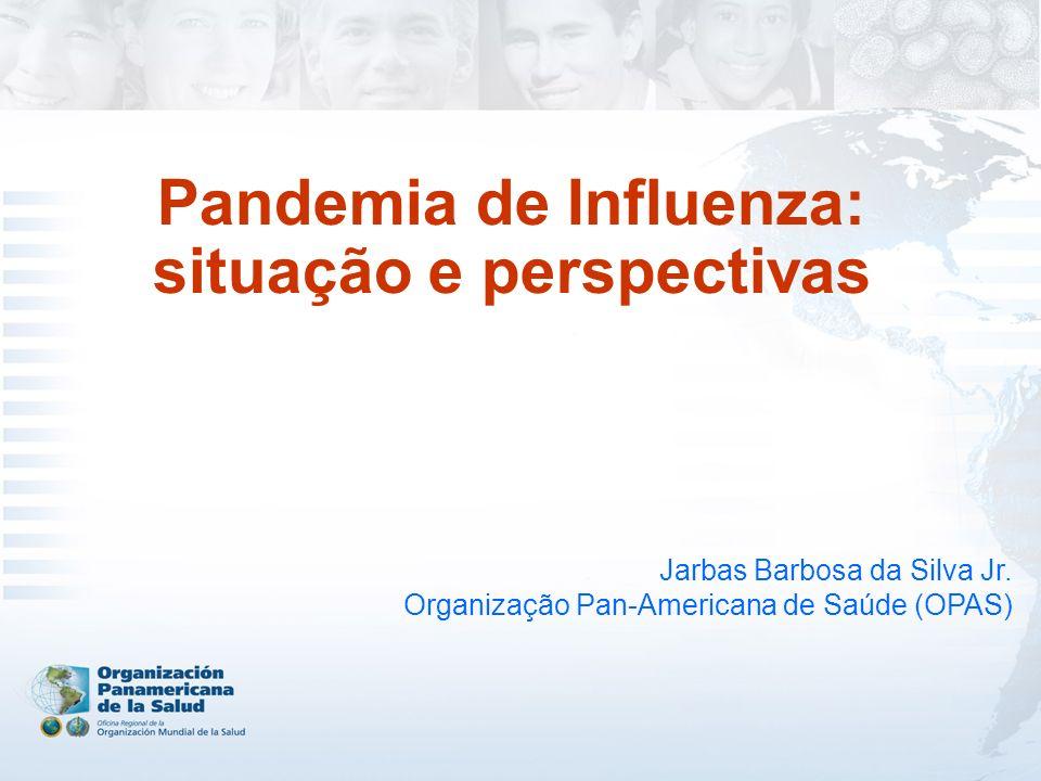Pandemia de Influenza: situação e perspectivas Jarbas Barbosa da Silva Jr. Organização Pan-Americana de Saúde (OPAS)