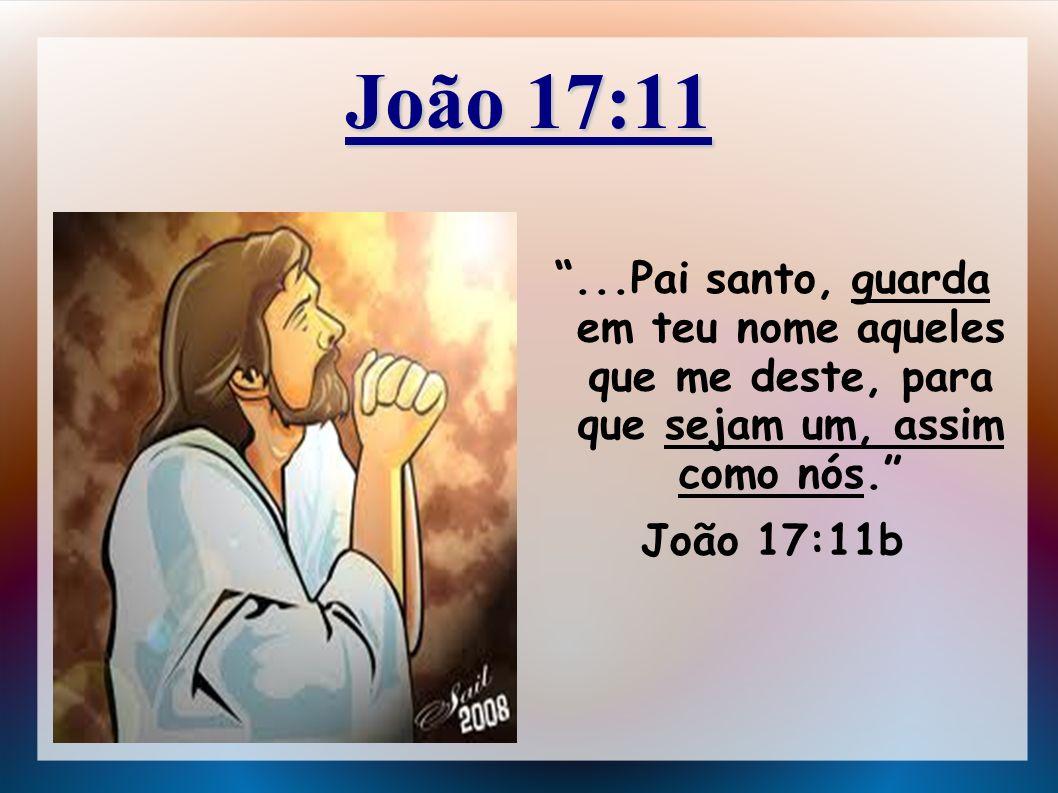 João 17:11...Pai santo, guarda em teu nome aqueles que me deste, para que sejam um, assim como nós. João 17:11b