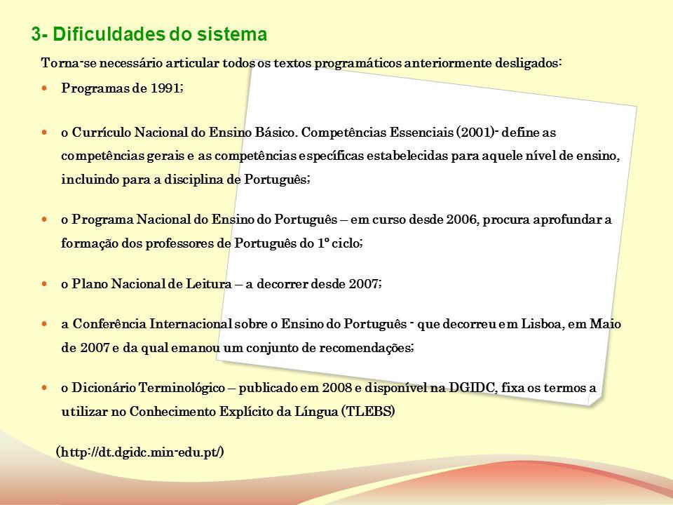 Novo Programa de Português para o Ensino Básico ORGANIZAÇÃO PROGRAMÁTICA 1.º Ciclo 2.º Ciclo 3.º Ciclo 1.º e 2.º / 3.º e 4.º 5.º e 6.º 7.º / 8.º e 9.º Articulação/Complexificação/Progressão II Parte- Programas