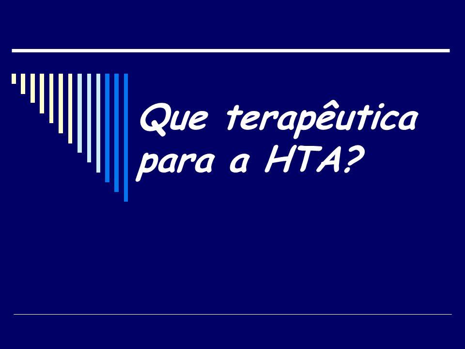 Que terapêutica para a HTA?