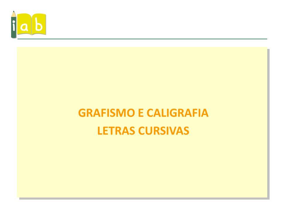 GRAFISMO E CALIGRAFIA LETRAS CURSIVAS