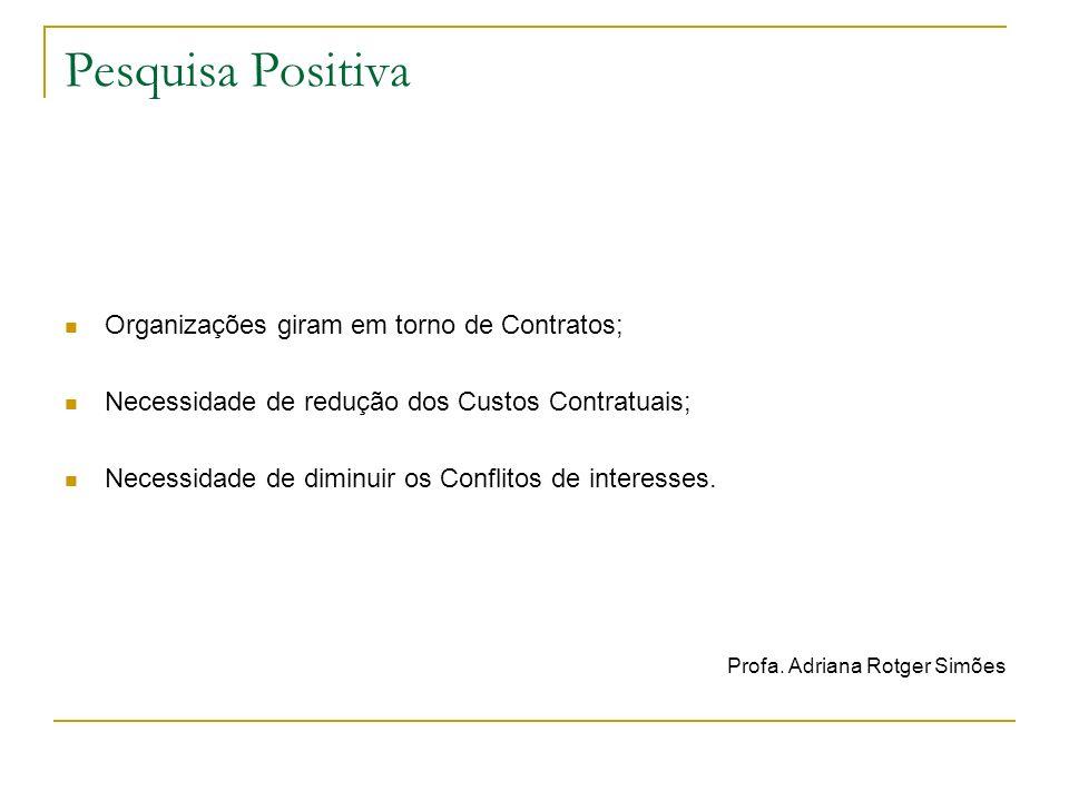 Pesquisa Positiva Fonte: IUDÍCIBUS e LOPES, 2004: 15-31.
