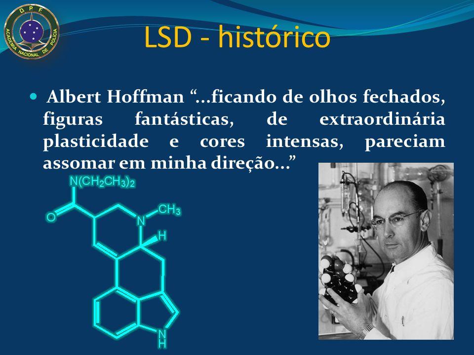 LSD - histórico O LSD é uma droga sintética derivada do ácido lisérgico, extraído do fungo Claviceps purpurea, que é um infectante comum do trigo.