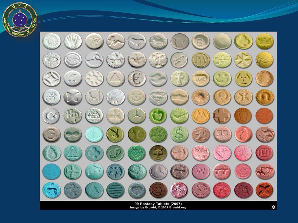 MDMA - Ecstasy Laboratórios Sofisticados; Uso de Chancelas visando estimular o uso através de informações subjetivas da: procedência, característica e
