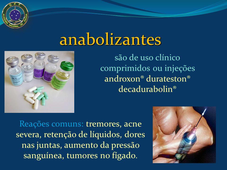 Outras DROGAS Anabolizantes Drogas relacionadas ao hormônio masculino testosterona