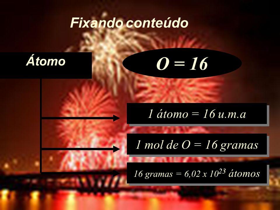 MOL – coeficientes dos reagentes e produtos NO BALANCEAMENTO: ÍNDICES DAS FÓRMULAS NÃO MUDAM (IDENTIDADE DAS SUBSTÂNCIAS) COEFICIENTES PODEM MUDAR H 2 O é diferente de H 2 O 2 índices (1) CH 4 + 2 O 2 (1) CO 2 + 2 H 2 O coeficientes