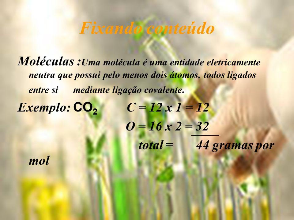 Como calcular a massa de uma molécula.