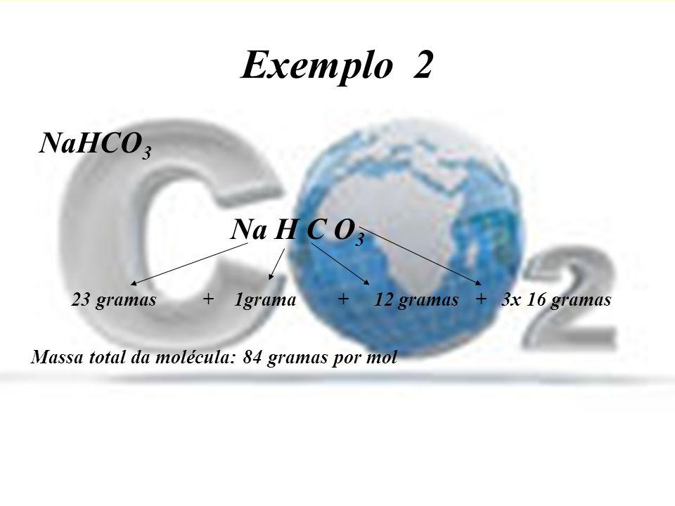 Exercícios Para os exercícios a seguir, utilize esses valores como massa atômica relativa dos elementos químicos: H = I; C = 12; N = 14; O = 16; Na = 23; Ca = 40; Cl = 35,5; P = 31; Cu = 63,5; S = 32; F = 19; Ag = 1O8; Al = 27; Fe = 56; I = 127 Determine as massas moleculares das substâncias abaixo: a)N 2.