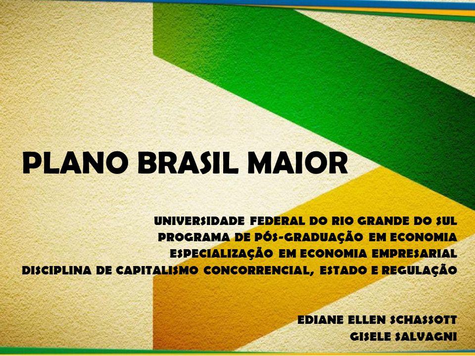 PLANO BRASIL MAIOR UNIVERSIDADE FEDERAL DO RIO GRANDE DO SUL PROGRAMA DE PÓS-GRADUAÇÃO EM ECONOMIA ESPECIALIZAÇÃO EM ECONOMIA EMPRESARIAL DISCIPLINA D