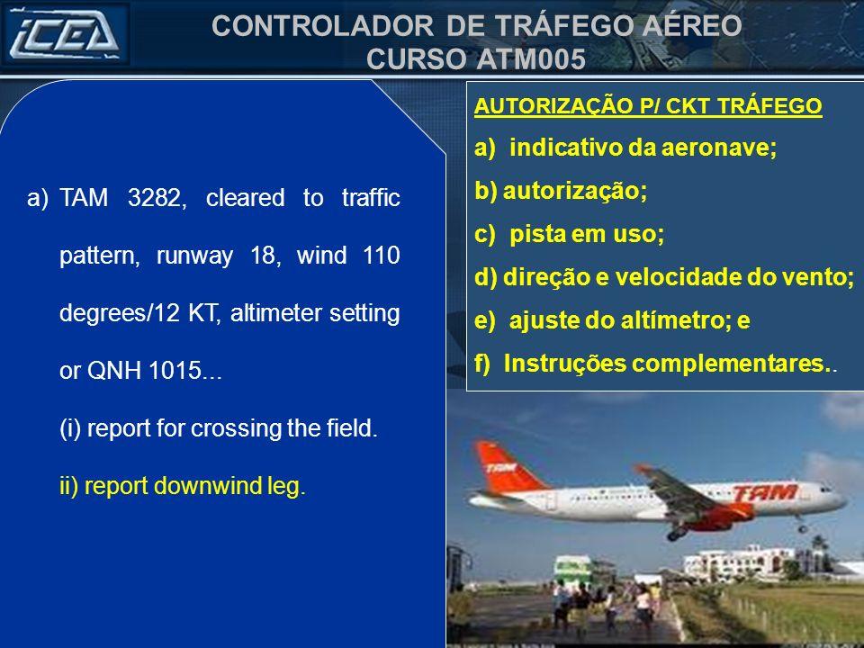 CONTROLADOR DE TRÁFEGO AÉREO CURSO ATM005 b)PT BFA, faça aproximação pela direita, pista 36, vento 040 graus / 10 KT, ajuste do altímetro ou QNH 1014, acuse perna base.