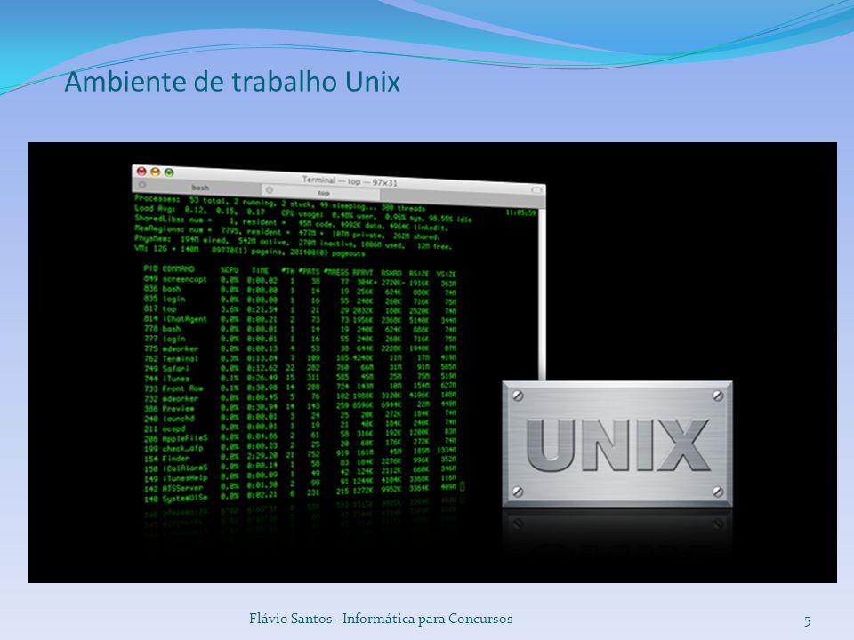 Ambiente de trabalho Unix Flávio Santos - Informática para Concursos5