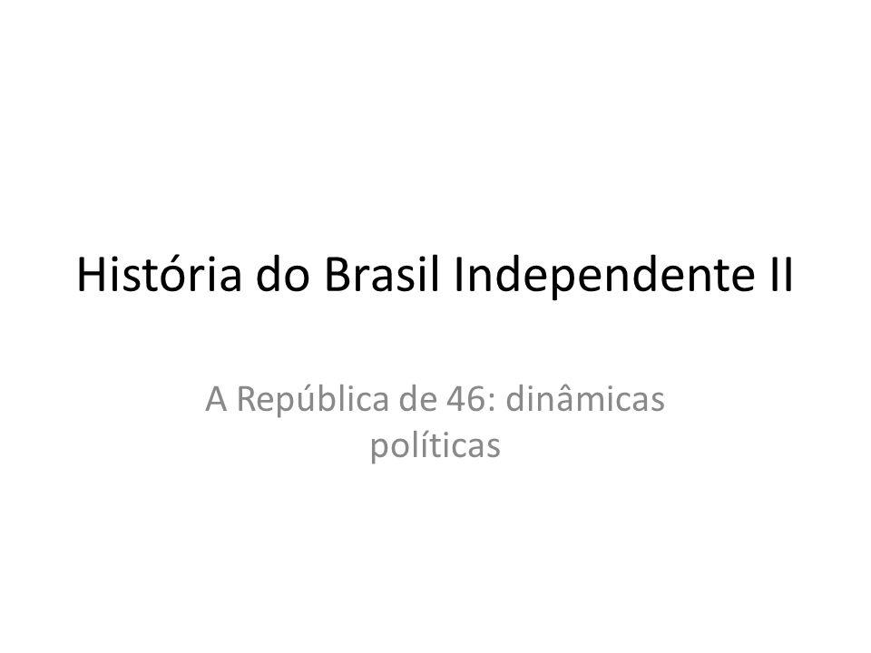 História do Brasil Independente II A República de 46: dinâmicas políticas