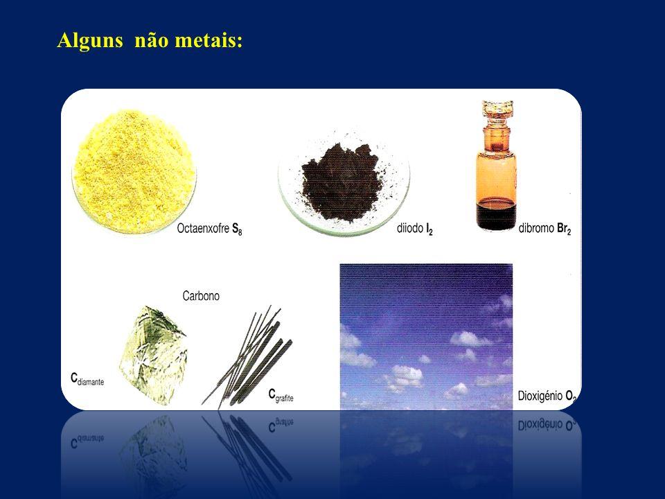 Alguns não metais: