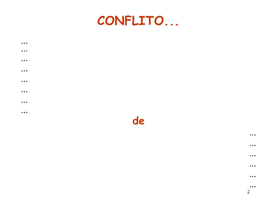 1 Administração de Conflitos Sem a capacidade de administrar conflitos, você não pode ser bem-sucedido em sua organização Jerry Wisinski.