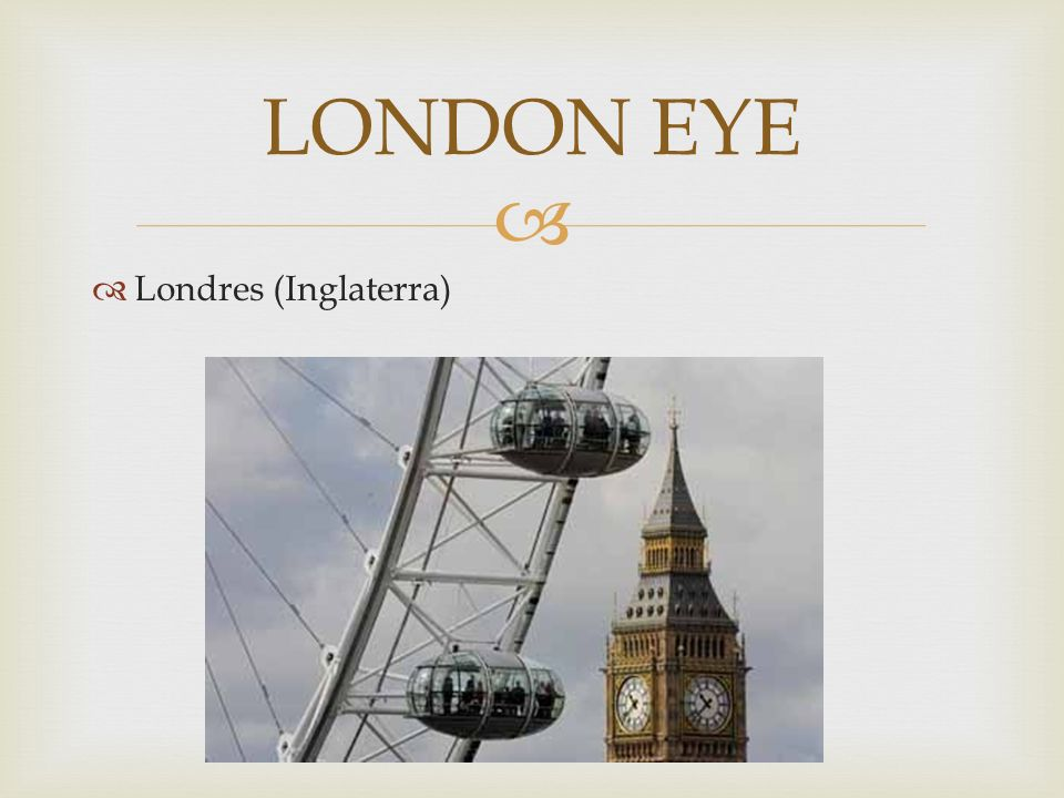 Londres (Inglaterra) LONDON EYE