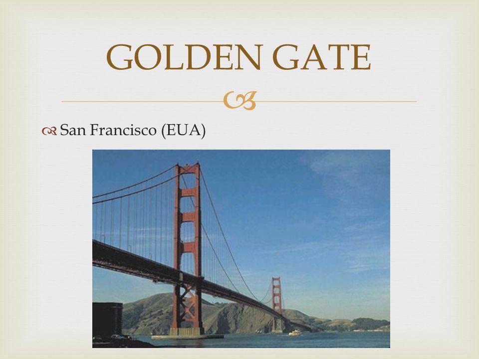 O maior ícone da cidade de São Francisco, nos EUA serve de entrada para a baía de São Francisco através do oceano Pacífico.