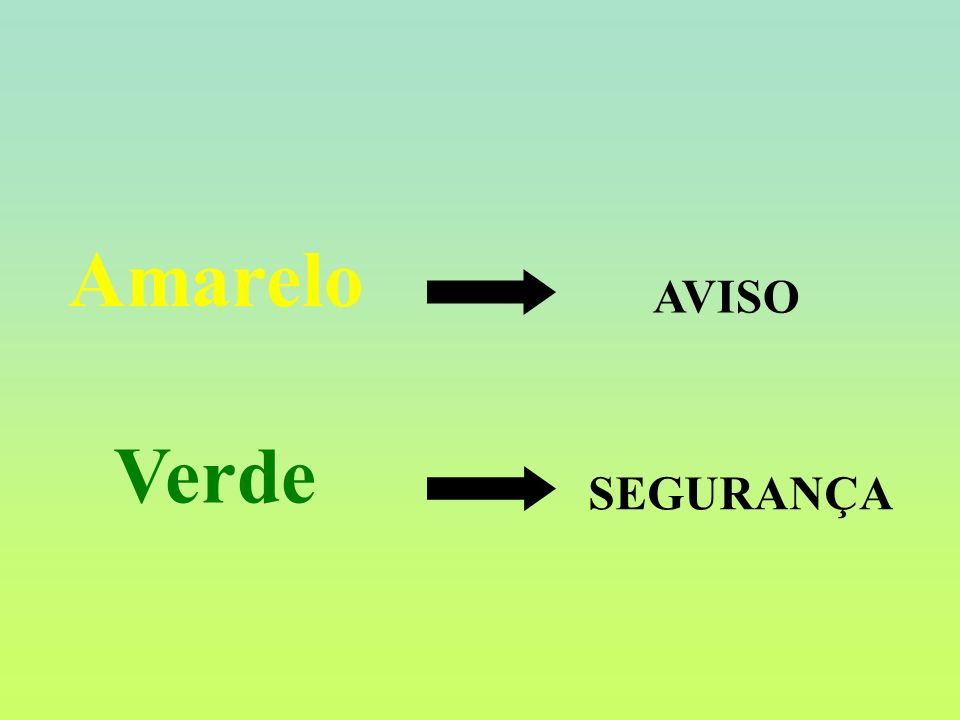 Amarelo Verde AVISO SEGURANÇA