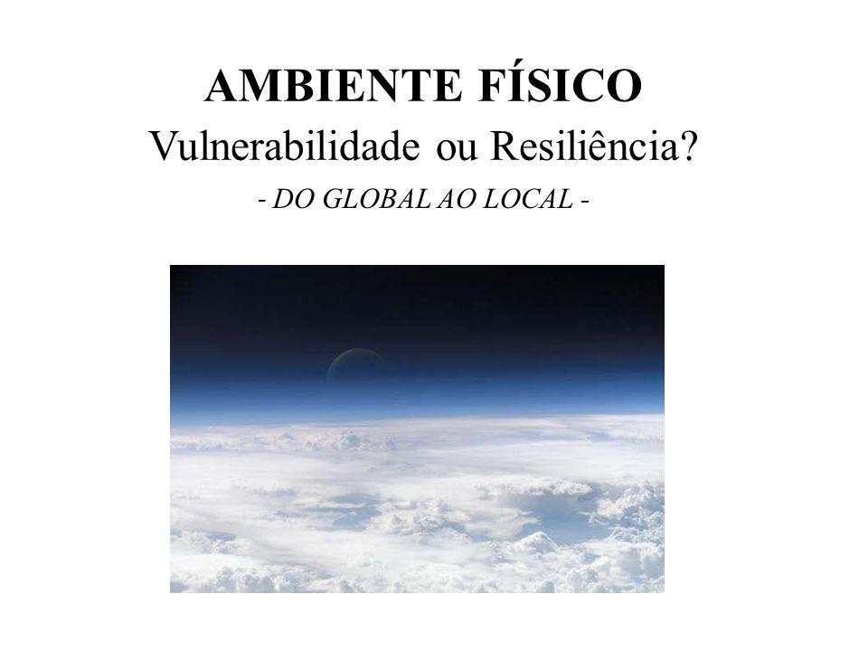 AMBIENTE FÍSICO Vulnerabilidade ou Resiliência? - DO GLOBAL AO LOCAL -