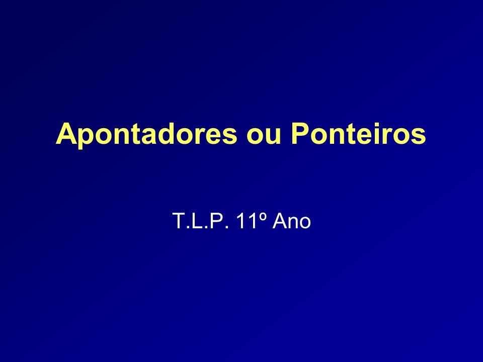 Miguela Fernandes 32 Exemplo void main () { int arint[] = { 1,2,3,4,5,6,7 }; int size = 7;/* tamanho do array */ int i, *pi; for (pi=arint, i=0; i < size; i++, pi++) printf( %d, *pi); } ==> 1 2 3 4 5 6 7