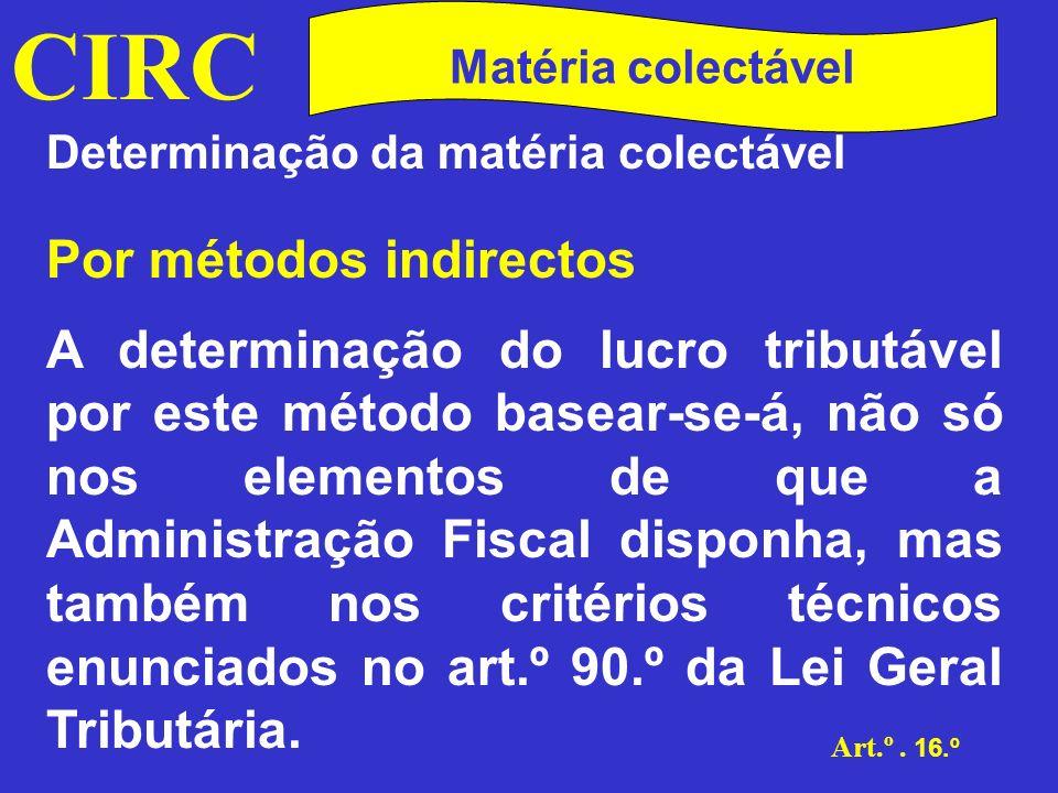 CIRC Matéria colectável