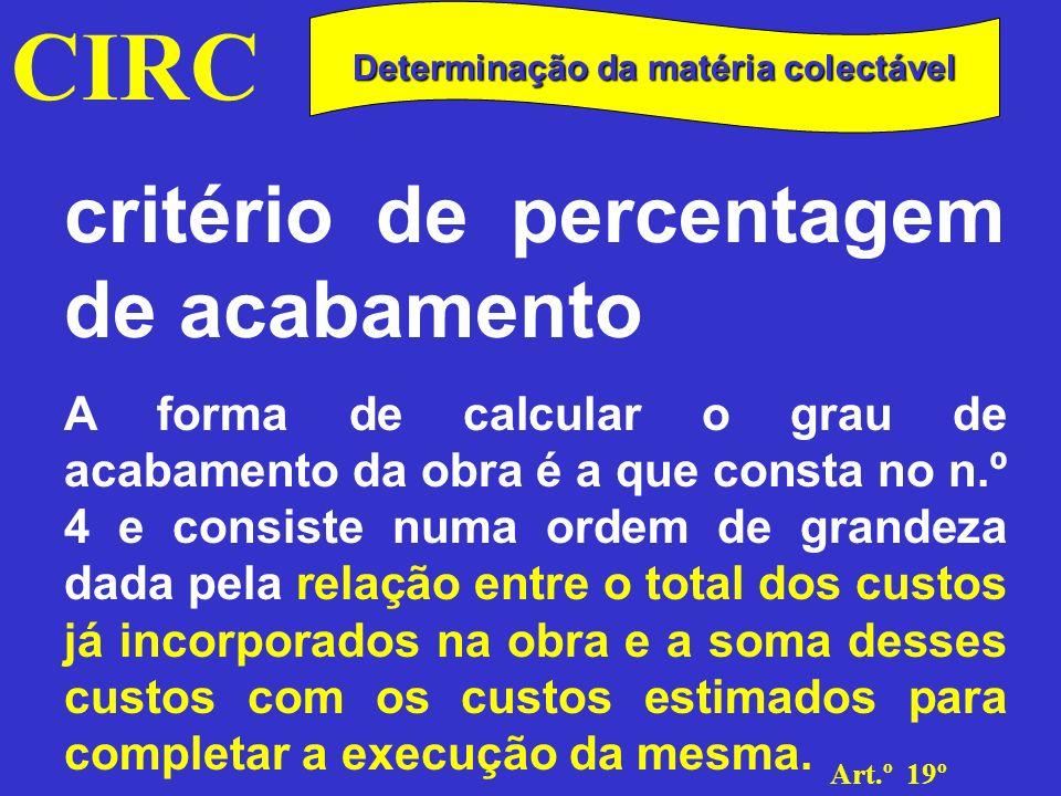 CIRC Art.º 19º n.